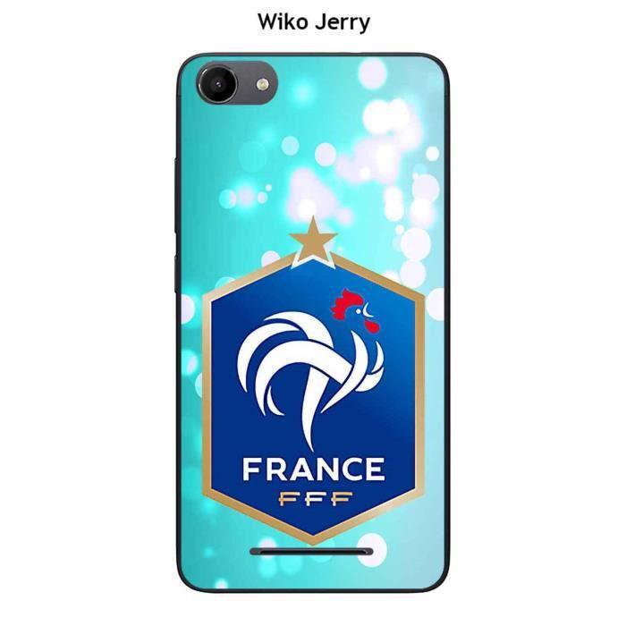 Coque Wiko Jerry design Foot France fond bleu - Cdiscount Téléphonie