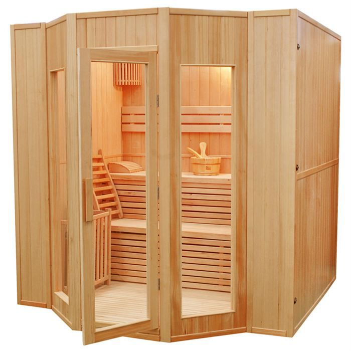 Sauna traditionnel finlandais 5 places zen achat vente for Sauna maison pas cher