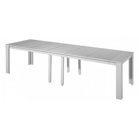 table console extensible stella 5 rallonges gris achat vente console extensible table. Black Bedroom Furniture Sets. Home Design Ideas