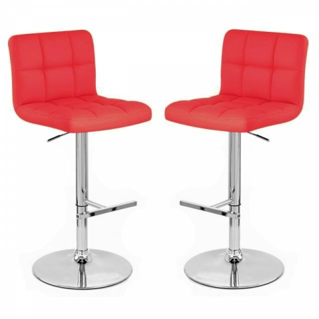 tabouret de bar rouge x2 mustang achat vente tabouret. Black Bedroom Furniture Sets. Home Design Ideas