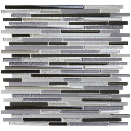Mosaique En Verre Carreaux Barre Noir Gris Brun Filet Carrelage