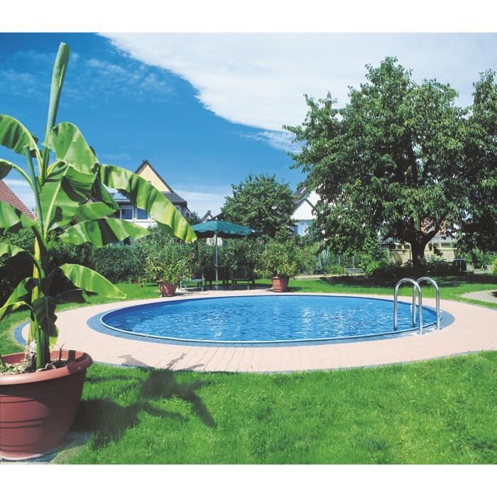 PISCINE GRE Star Pool Kit piscine enterrée ronde 3,50x1,20
