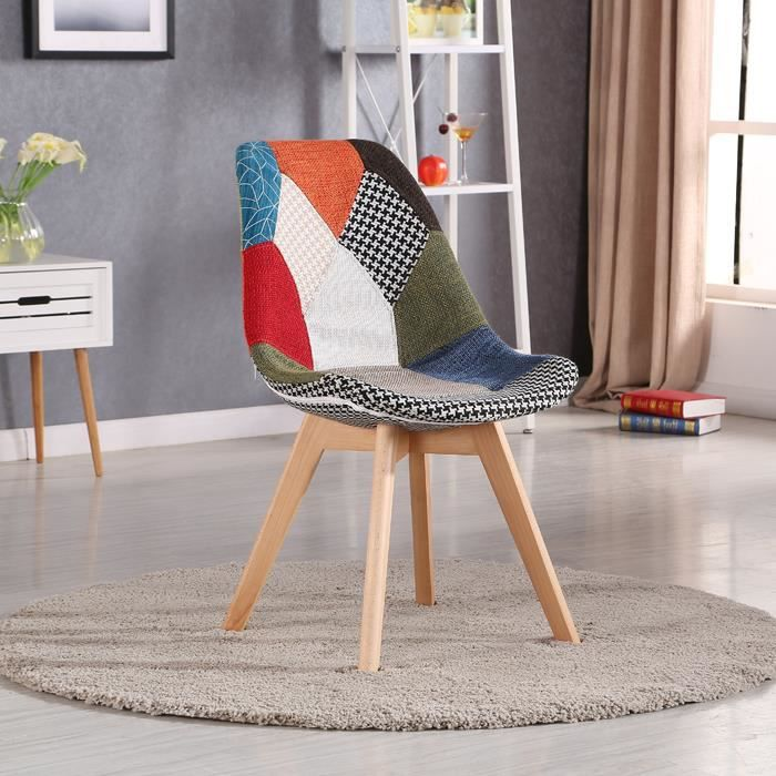 Chaise patchwork achat vente chaise patchwork pas cher cdiscount for Chaise patchwork