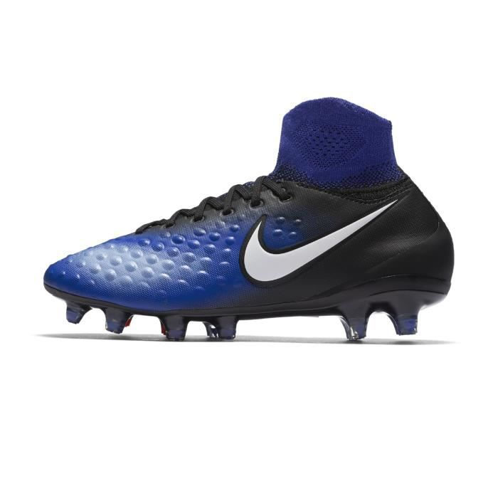 huge discount 9592e 4458e Chaussures football Nike Magista Obra II FG NoirBleu Junior