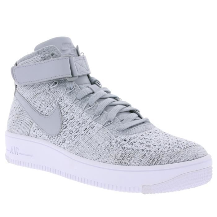 the latest 8df3e 34a49 NIKE Air Force 1 Ultra Flyknit Mid Sneaker homme gris 817420 003 ...