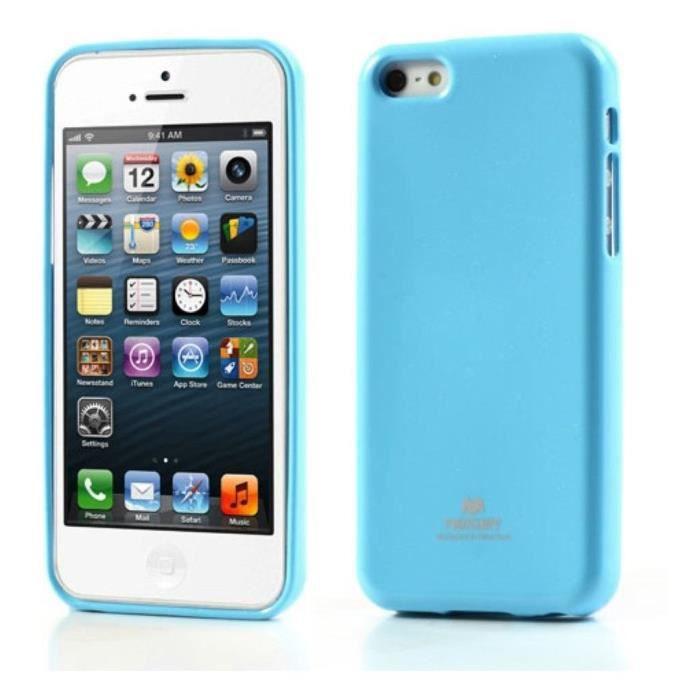 coque iphone 5c gel mercury silicone bleu