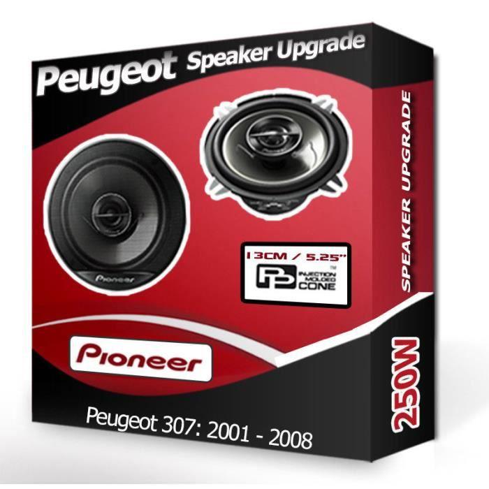 """HAUT PARLEUR VOITURE Peugeot 307 Haut-parleur arrière Pioneer 5.25 """"Kit"""