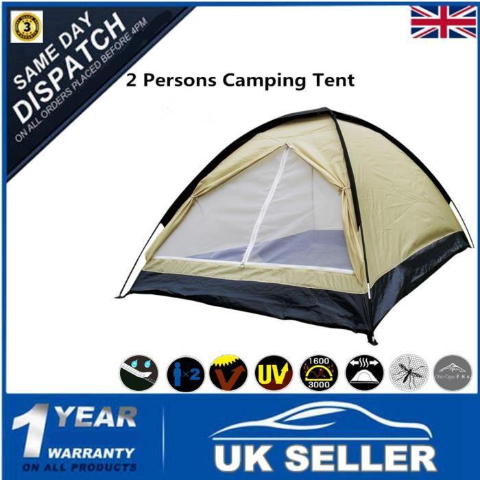 TENTE DE CAMPING UK Tente de Camping 2 Place Tente Randonnée Extéri