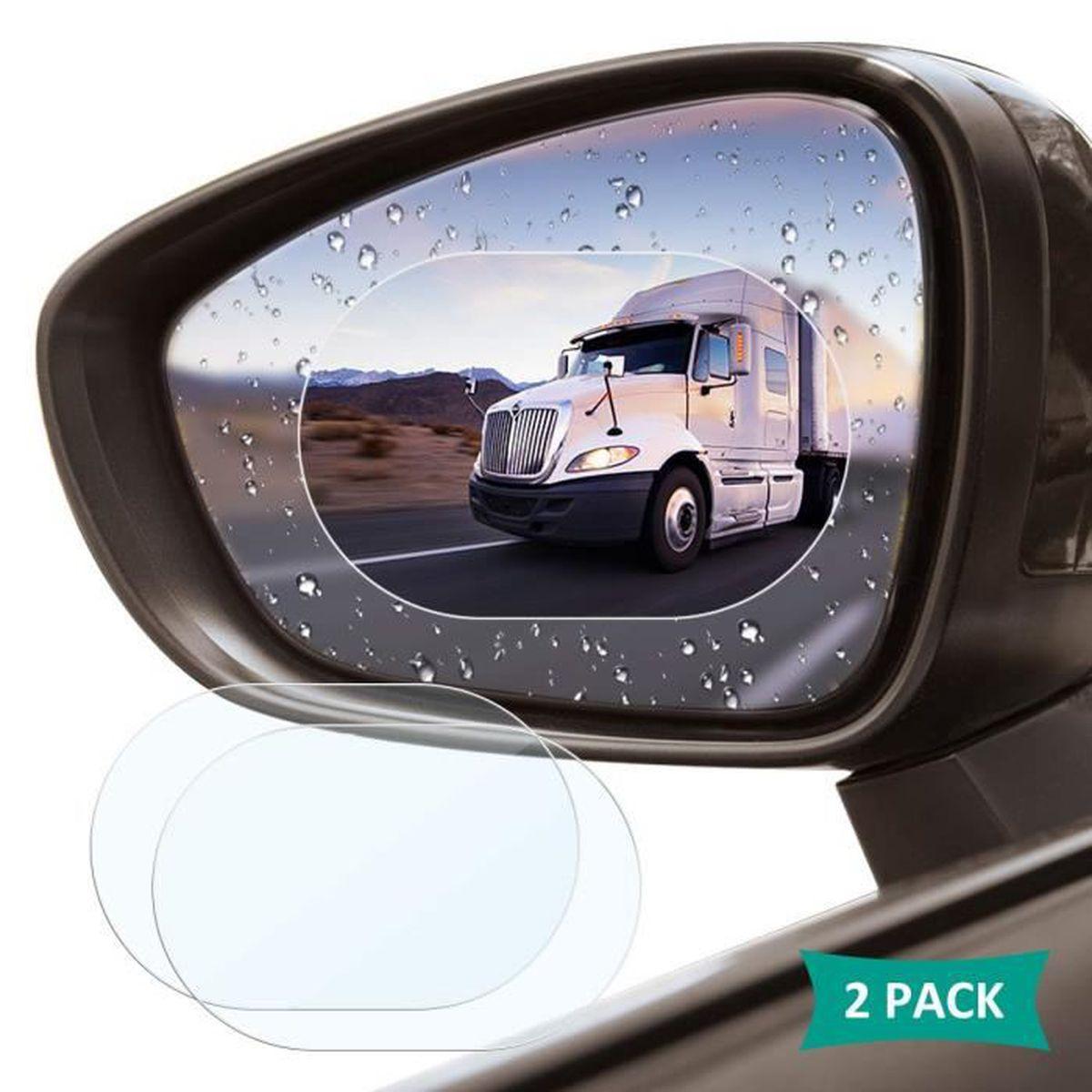 F-blue 1 Paire Car Rearview Mirror Window Film Transparent Anti Brouillard Anti-/éblouissement Film de Protection Anti-Pluie Autocollant de Voiture