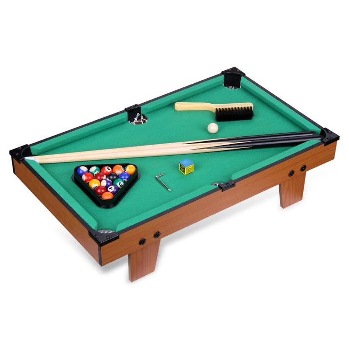 excelvan mini table de billard jeu 62 5 37 13 5 cm. Black Bedroom Furniture Sets. Home Design Ideas
