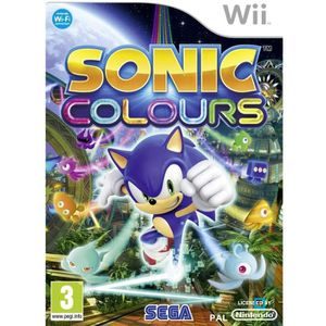 JEUX WII SONIC COLOURS / Jeu console Wii.