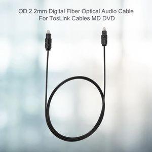 CÂBLE AUDIO VIDÉO OD2.2mm Câble audio à fibre optique pour câbles To