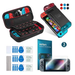 PACK ACCESSOIRE Keten 11in1 Nintendo Switch Accessory Kit inclure