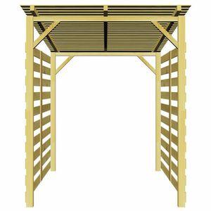ABRI JARDIN - CHALET Abri de stockage du bois de chauffage Bois de pin