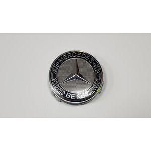 DÉCORATION VÉHICULE 4x Logo Jante Mercedes Benz Argent  75mm Cache Moy
