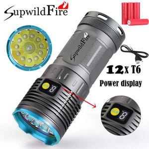LAMPE DE POCHE Supwildfire 36000LM 12 x XM-L T6 LED de puissance