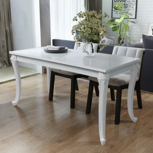 Table Blanche Salle A Manger Achat Vente Pas Cher