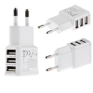 CHARGEUR TÉLÉPHONE Chargeur 3 Port USB Adaptateur Accueil Mur Voyage