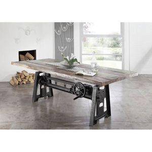 TABLE À MANGER SEULE Table à manger 200x100cm - Fer et bois massif recy