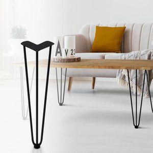 PIED DE MEUBLE Lot de 4 pieds de table en épingle 40.5 cm style d
