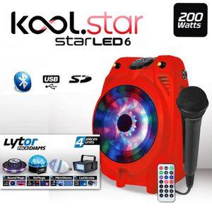 PACK SONO Enceinte Mobile Karaoké Enfants 200W Micro STAR6LE