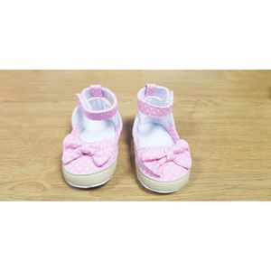 Bébé Filles Garçons Nouveau-né POM POM Tricot Chaussons Doux Chaussures Gris Rose Bleu