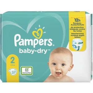 COUCHE pampers     pampers couches baby-dry taille 2 mini