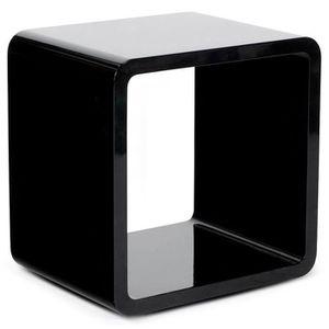TABLE BASSE Table basse - cube de rangement noir - 49 x 39 x 4
