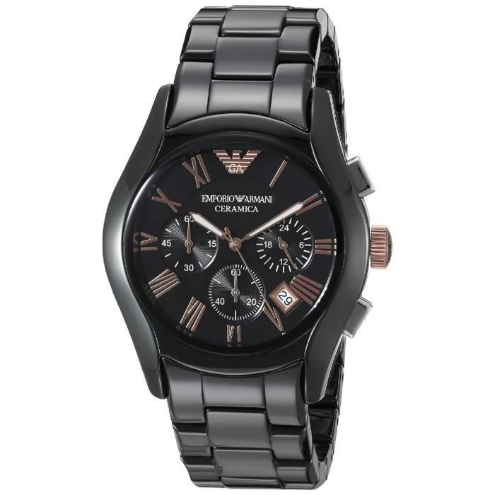 Montre Emporio Armani Homme AR1410 Montre bracelet quartz analogique en acier inoxydable