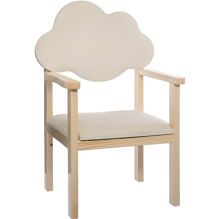 Chaise dossier nuage blanc Atmosphéra