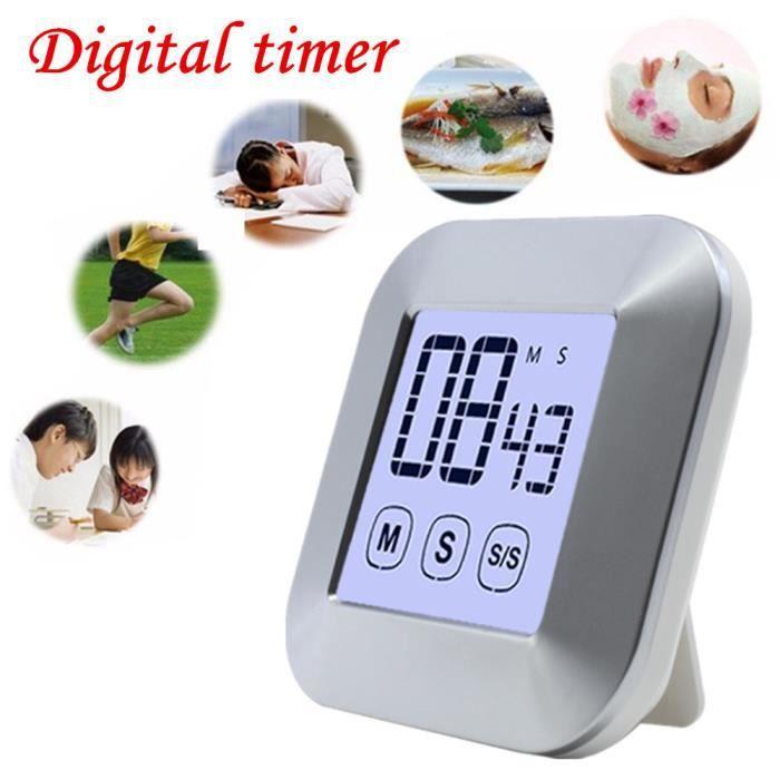 Minuterie d'affichage d'écran tactile de minuterie de cuisine de Digital grands chiffres, alarme forte LZX80223739
