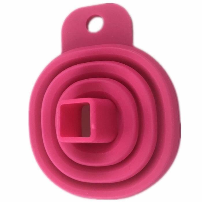 Entonnoir pliable en Silicone 2 pièces-lot - Style pliable, trémie, cozinha outils de cuisine, - Modèle: style1pink - WMCFXGJA00264