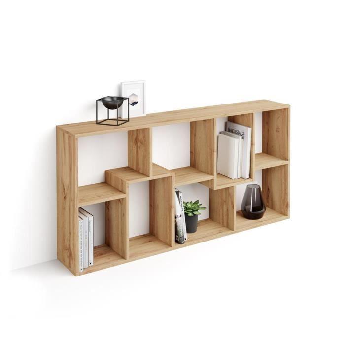 Mobili Fiver, Bibliothèque XS Iacopo (160,8 x 80 cm), Bois Rustique, Mélaminé, Made in Italy