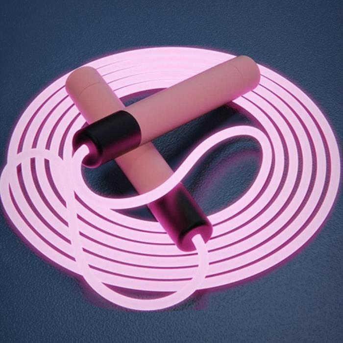 corde à sauter lumineuse à led, corde à sauter de fitness pour enfants adultes, corde à sauter de vitesse corde à sauter réglable