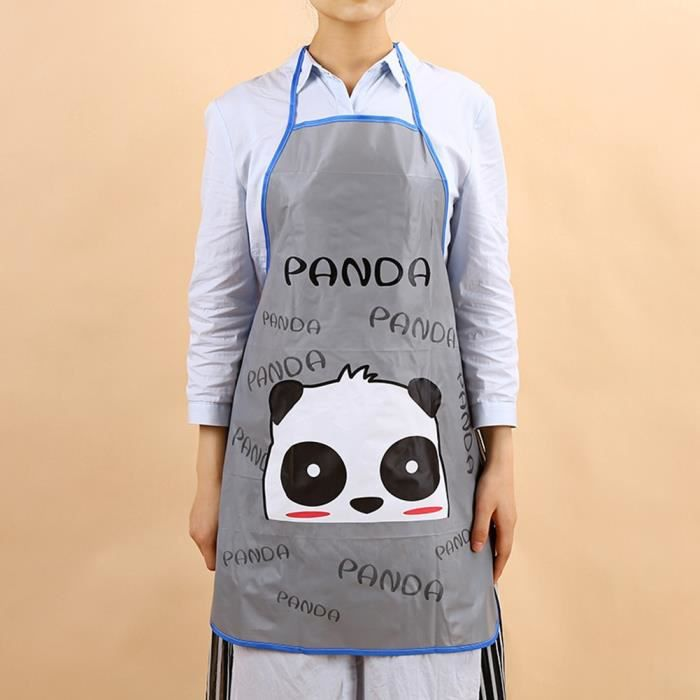 Tabliers de cuisine avec Images de dessin animé panda Tabliers sans manches imperméable Anti-huile -CYA