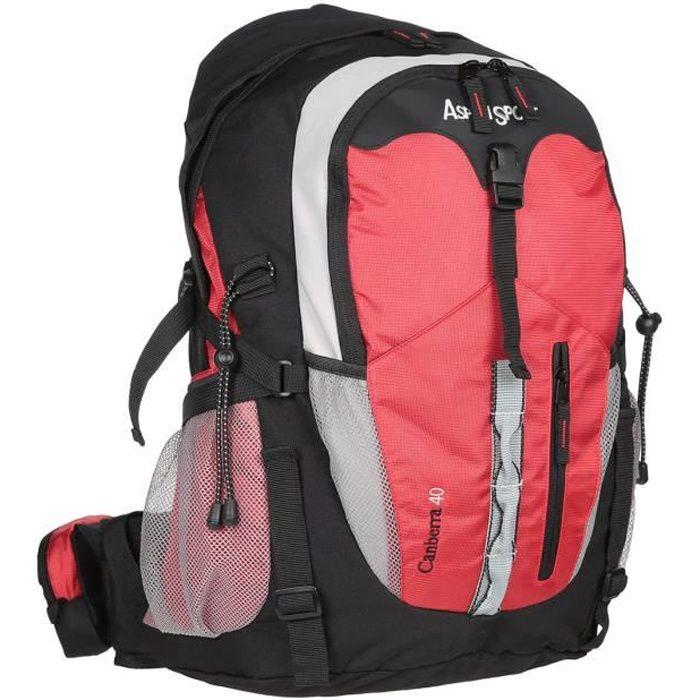 ASPENSPORT Backpack Canberra - Sac à dos 40 Litres Rouge