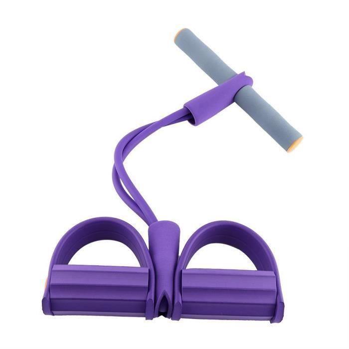 Bandes de Résistance Appareils Musculation Jambe Bras Cuisse Elastique Bandes d'Exercice Entraînement pour Fitness Yoga, Violet
