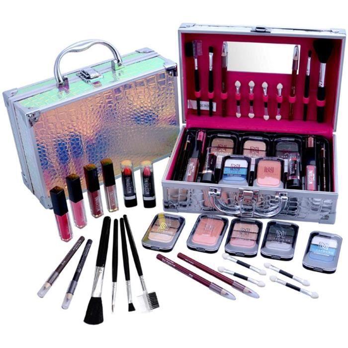 24Pcs Kit de Maquillage Professionnel, Coffret Maquillage Complet Tout-en-Un Kit de Démarrage Essentiel de Maquillage avec Brillant