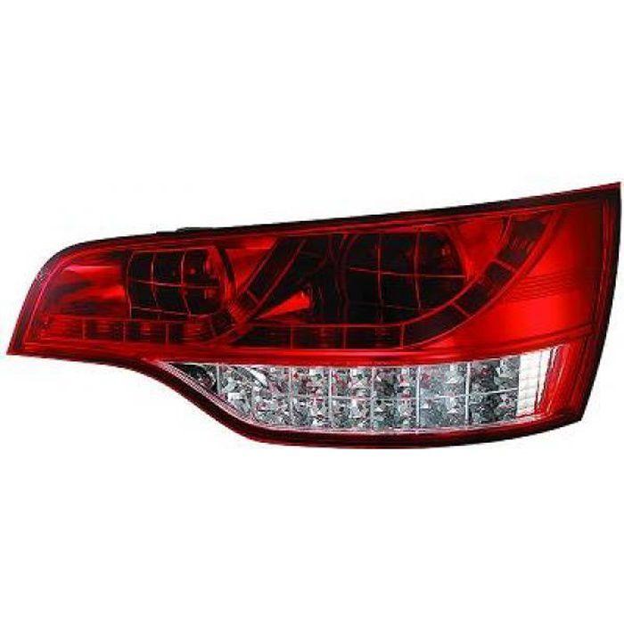 feux arrières design, rouge/blanc, LED Q7, 05-09 LED pour: Audi Q7 05-09