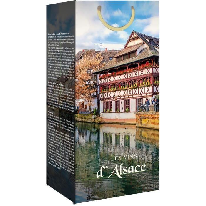 CLASSWINE Pochette pour 2 bouteilles vin d'Alsace Maisons