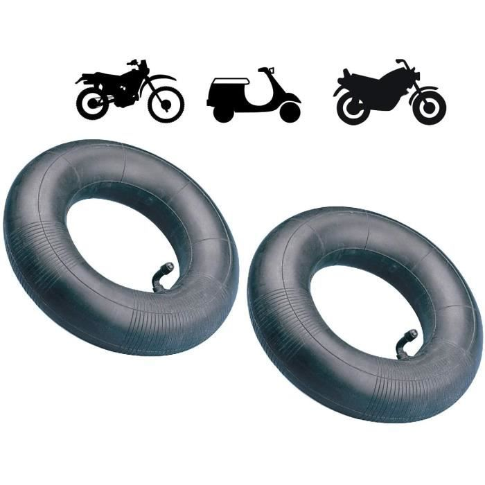 2x CHAMBRE A AIR 10'' 3.00 A 3.25-10 , 90-90-10 A 100-90-10 , 100-80-10 VALVE COUDEE MOTO CYCLOMOTEUR MOBYLETTE SCOOTER