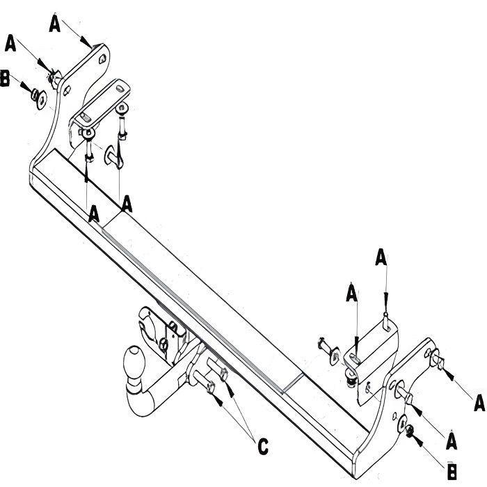 Attelage Hyundai IX35 (03/10-) Col de cygne + faisceau universel 7 broches + boitier électronique
