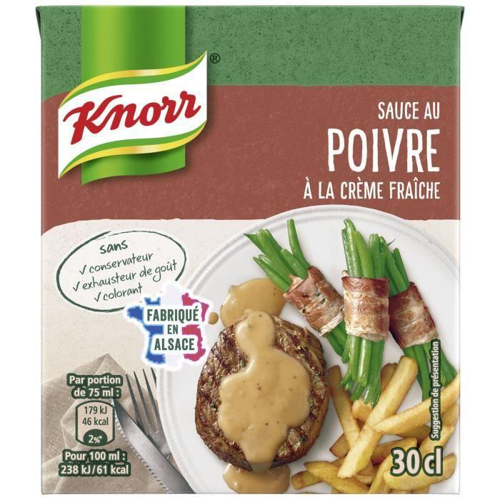 KNORR Sauce Poivre à la Crème Fraîche Brique - 30 cl