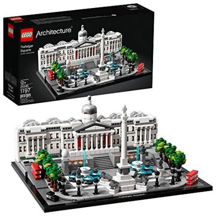 Jeu D'Assemblage LEGO RFPBZ Architecture 21045 Trafalgar Square Building Kit, New 2019 (1197 Pieces
