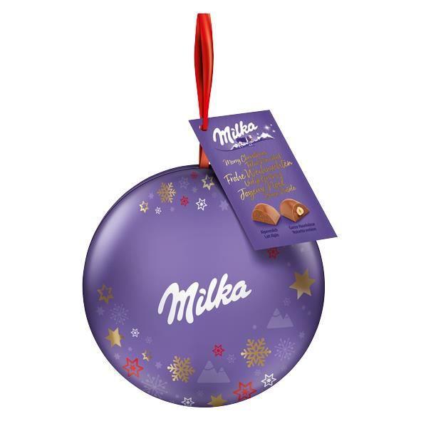 Milka Boule de décoration de Noël Pralines 110g
