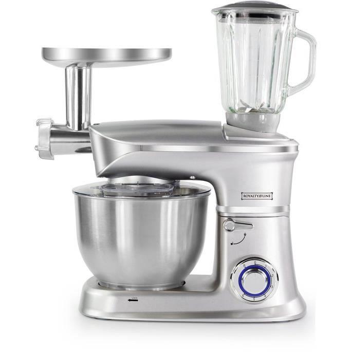 Robot de cuisine 6.5L 1900W multifonctionnel - 3 en 1 - Gris PKM1900.7BG