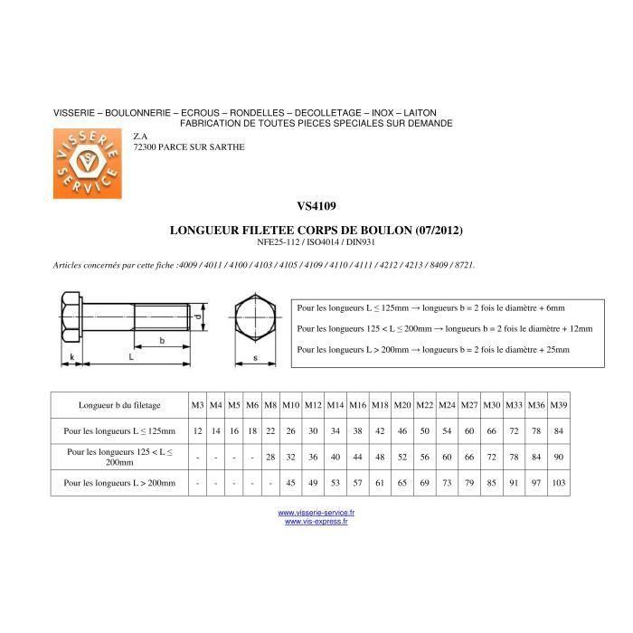 M6 Haute Résistance Grade 8.8 Partie Filetée Tête Hexagonale BOULONS Zinc Plaqué