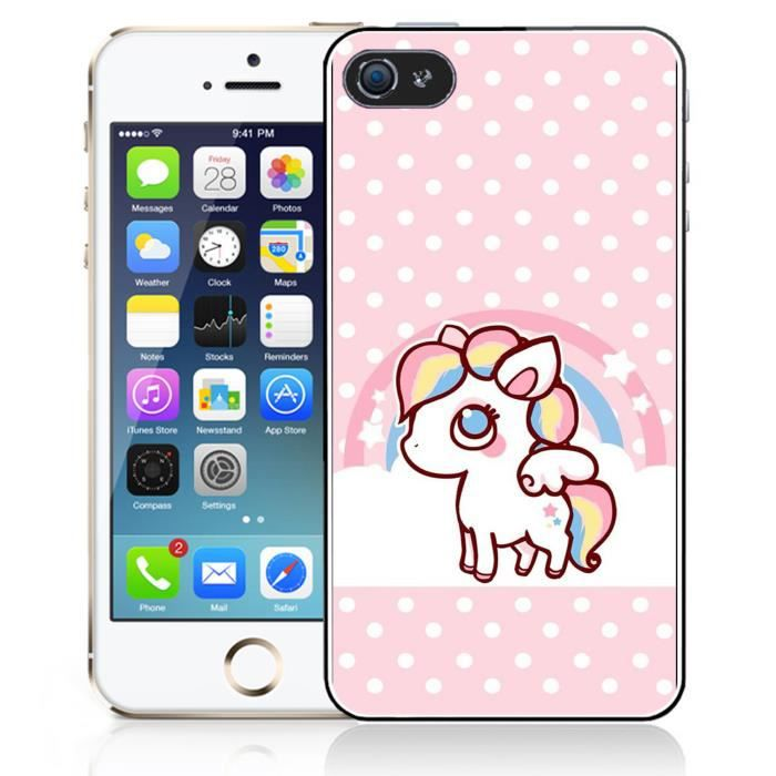 coque iphone 5 5s se licorne kawaii