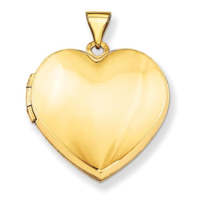 14 Carats Coeur-Locket-famille