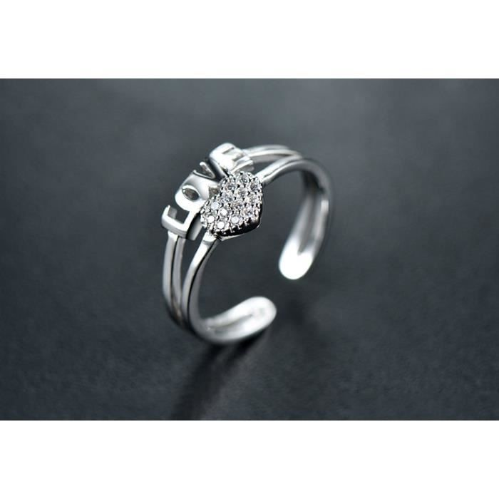 Argent élégant Saphir Diamant Bague Fiançailles Mariage Bague Bijoux SHAN